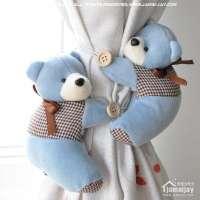 短毛绒熊窗帘扣