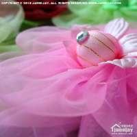 纱质窗帘绑花